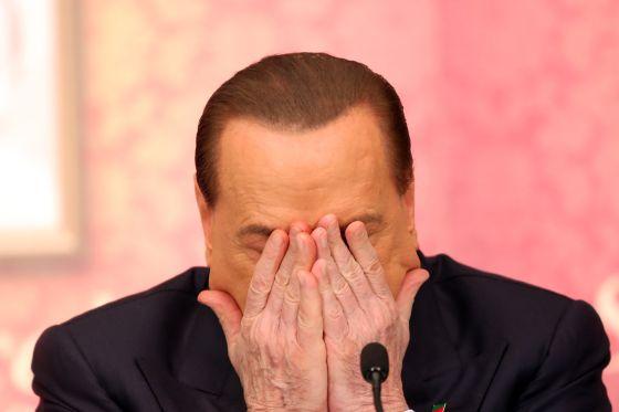 O ex primeiro-ministro italiano em Roma.