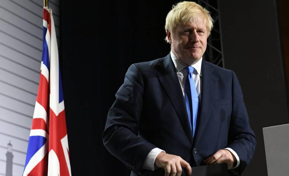 Boris Johnson durante o G7 em Biarritz.