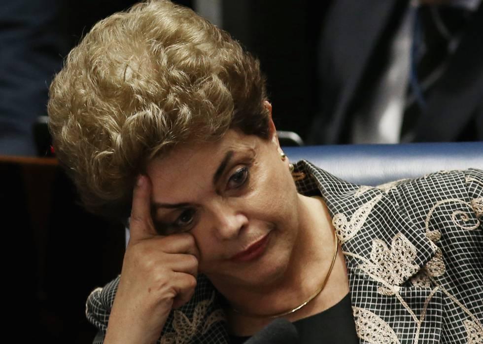 A presidenta afastada Dilma Rousseff, nesta segunda-feira.