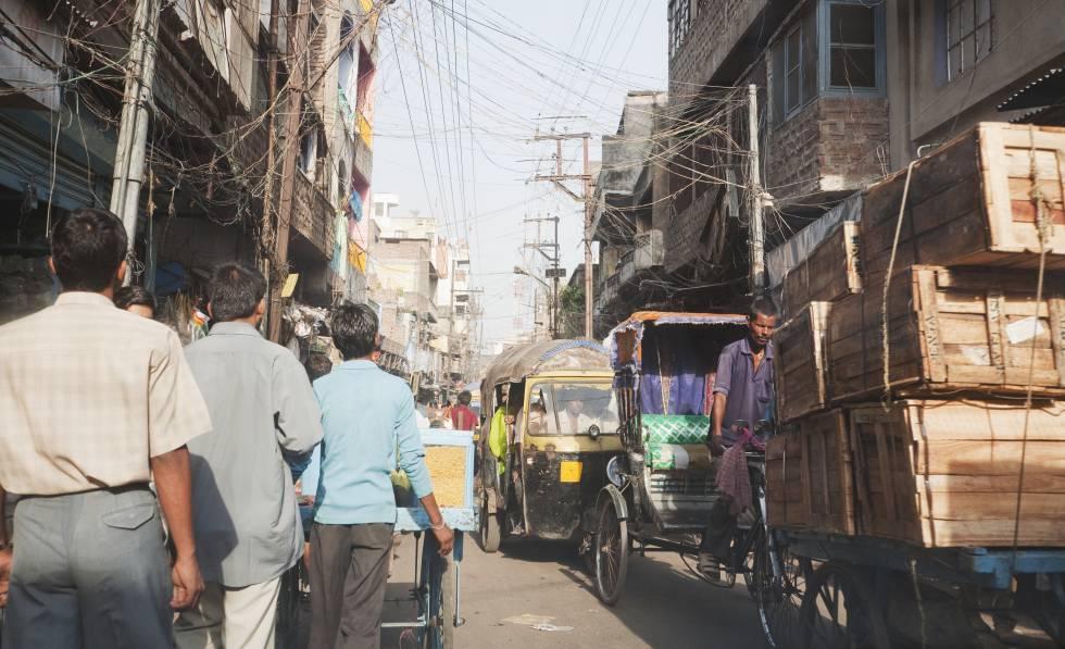 Uma rua de Patna (Bihar, Índia), onde cresce a incidência do rapto de homens.