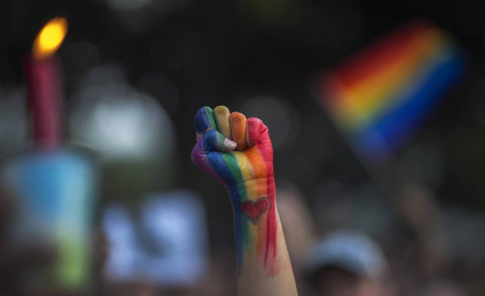 Protesto pela igualdade sexual nos EUA em 2016.