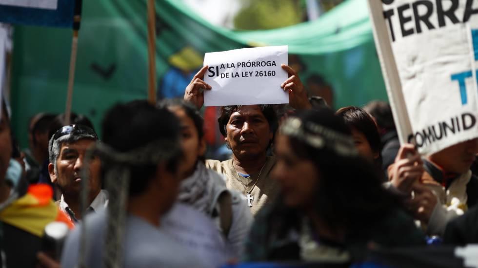 Protesto de indígenas em Buenos Aires