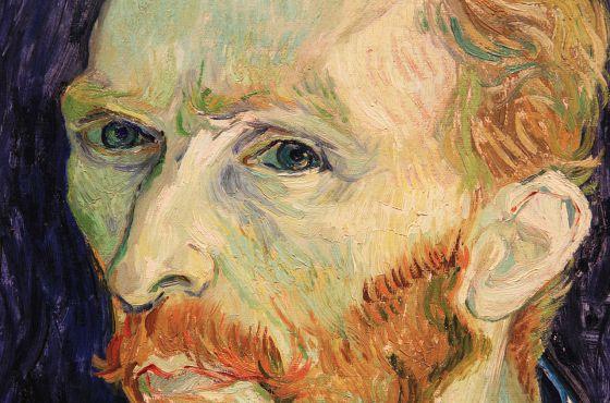 Detalhe de um autorretrato de Van Gogh.