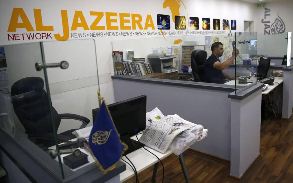Sucursal da Al Jazeera em Jerusalém.