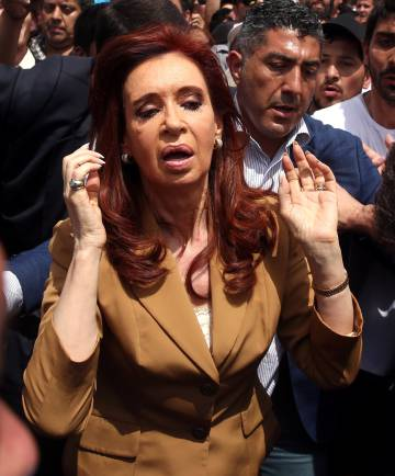 Cristina Fernández de Kirchner in a photo from October.