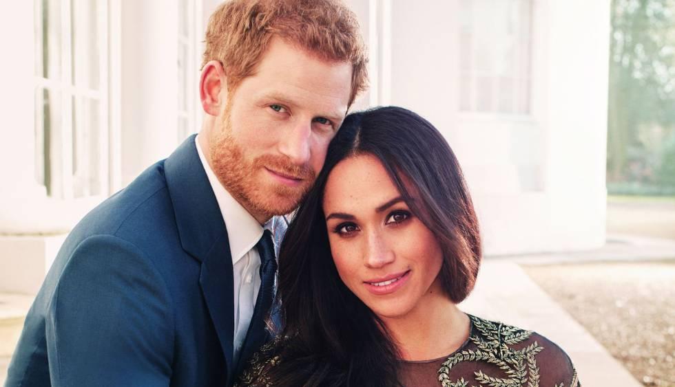 Retrato oficial de noivado do príncipe Harry da Inglaterra com Meghan Markle.