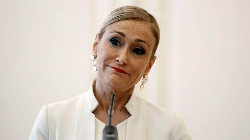 Cristina Cifuentes anuncia que deixa o cargo de presidenta da Comunidade de Madri