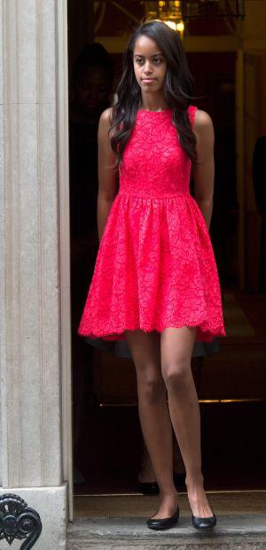 Malia Obama, a primeira filha do presidente de EUA.