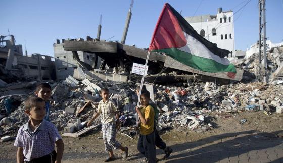O bairro de Shijaiya na cidade de Gaza, em 27 de agosto