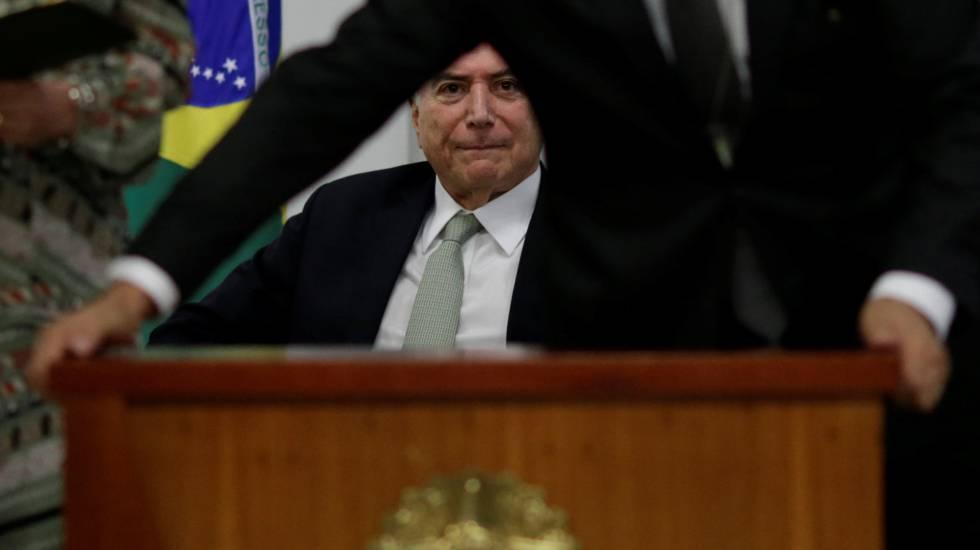 Michel Temer durante evento em Brasília.