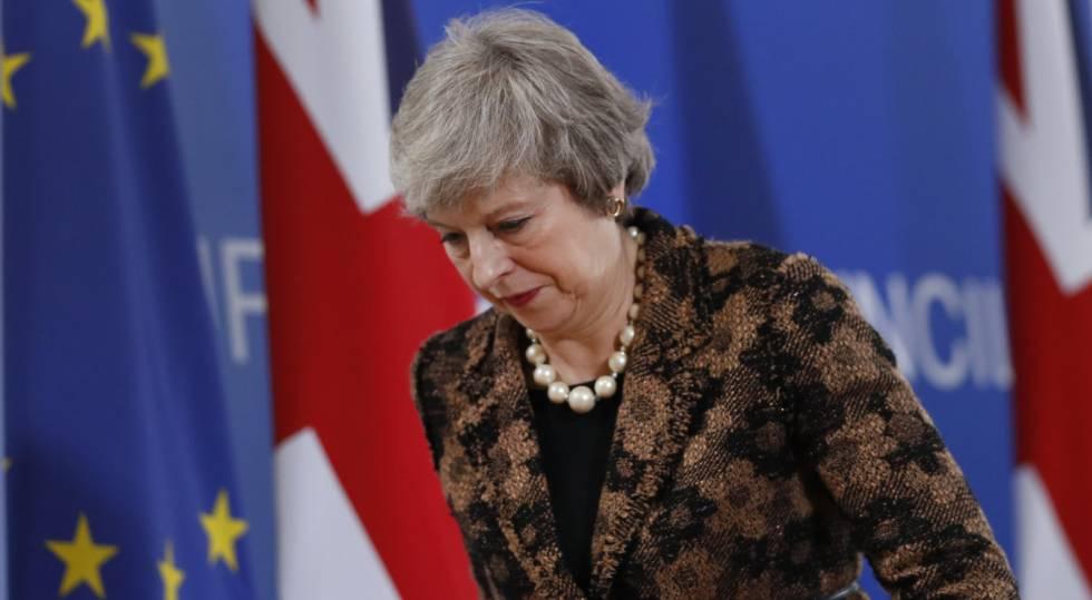 A primeira-ministra britânica, Theresa May, nesta sexta-feira em Bruxelas.
