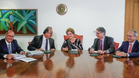 Dilma durante a reunião com governadores do sudeste no dia 14 de julho.