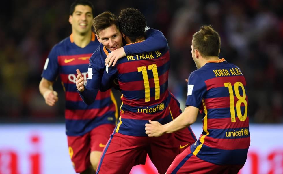 Messi comemora gol na final.