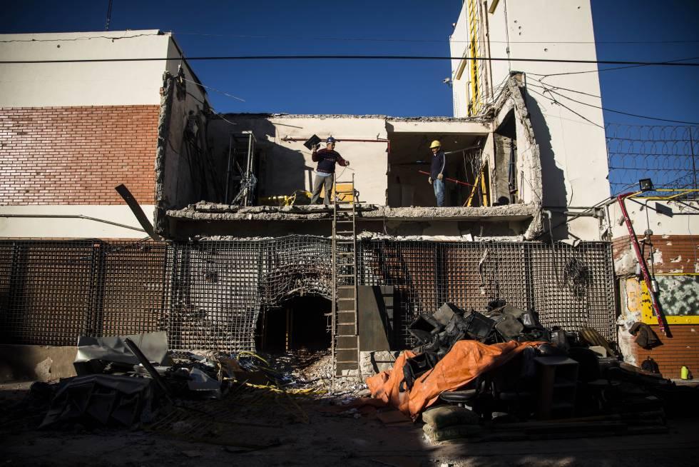Fachada da sede da Prosegur em Ciudad del Este, após o assalto dos traficantes em abril de 2017