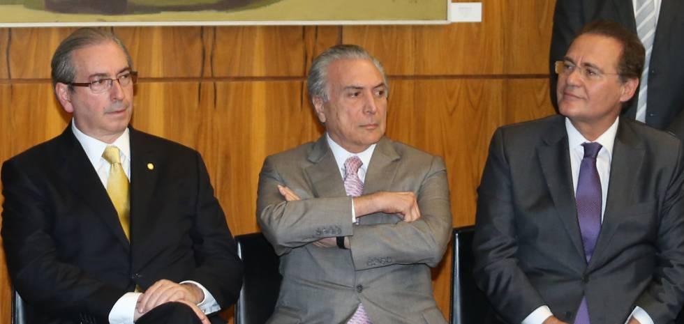 Cunha, Temer e Calheiros, o trio de ferro do PMDB.