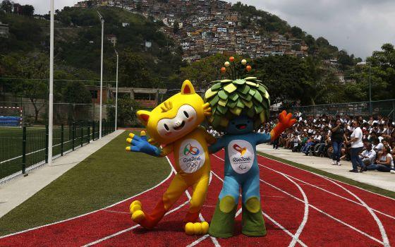 Mascotes dos Jogos Olímpicos do Rio de Janeiro 2016.