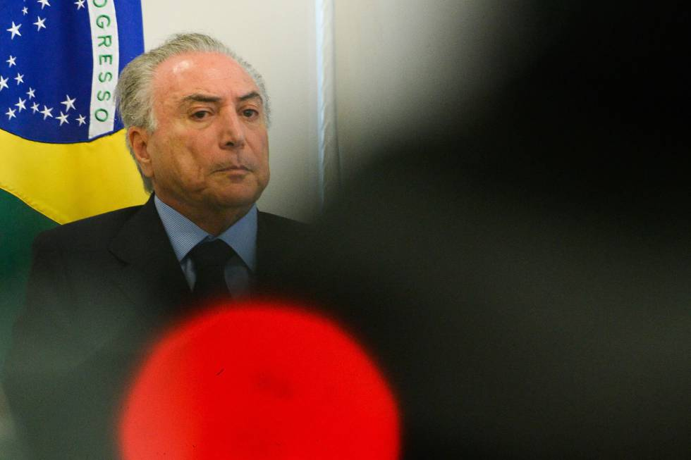 Michel Temer em evento no Palácio do Planalto.