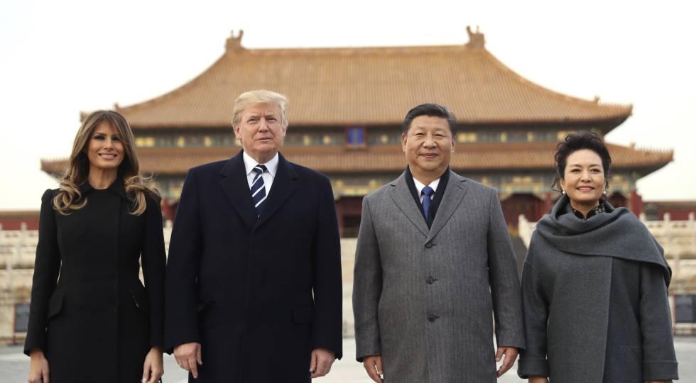 Melania, Trump, Xi e Peng Liyuan