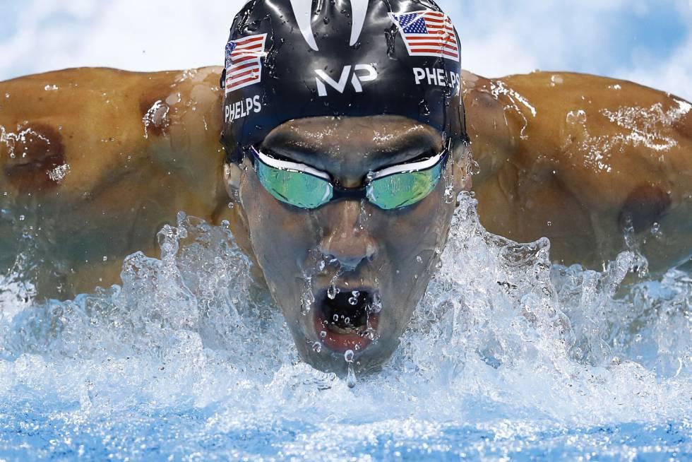 Phelps, durante a final dos 200m borboleta.