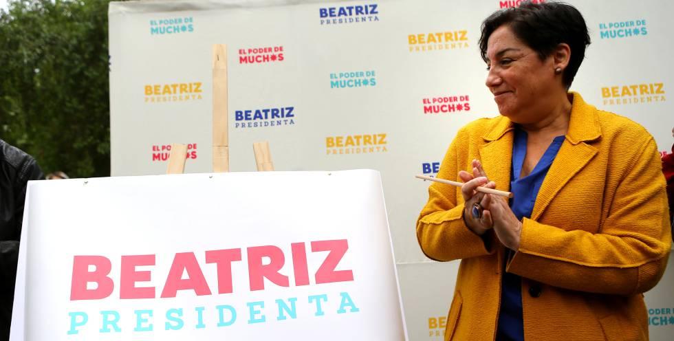 Beatriz Sánchez, candidata à presidência do Chile pela Frente Ampla, que teve votação surpreendente, mas não passou ao segundo turno.