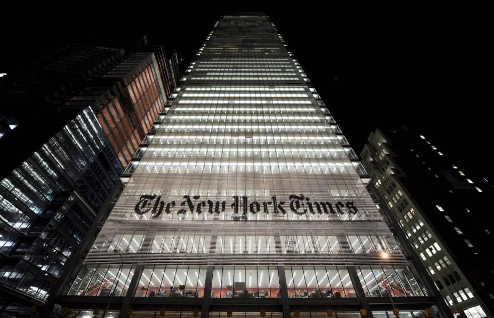 Sede do edifício do New York Times em Nova York.