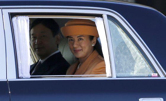 A princesa Masako com seu marido, o príncipe Naruhito.