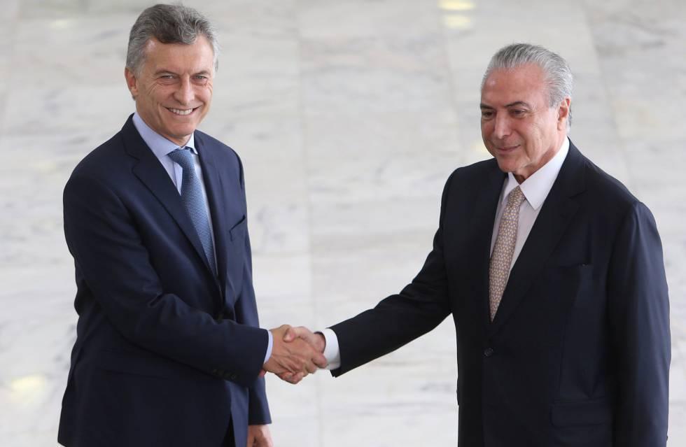 Temer recebe Macri no Palácio do Planalto