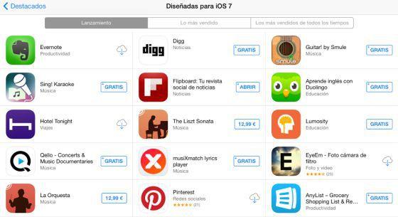 Captura de tela da AppStore.