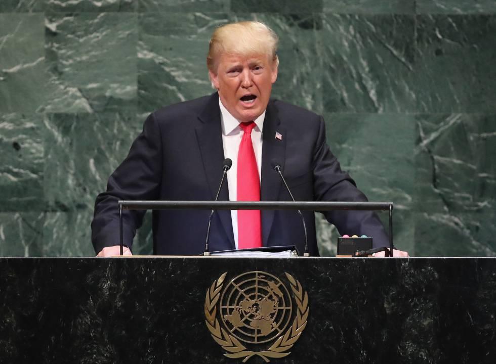 O presidente dos Estados Unidos, Donald Trump, dirige-se à Assembleia Geral da ONU nesta terça-feira em Nova York.