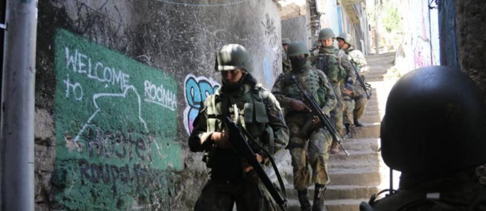 Ocupação das forças armadas na Rocinha, em setembro de 2017.