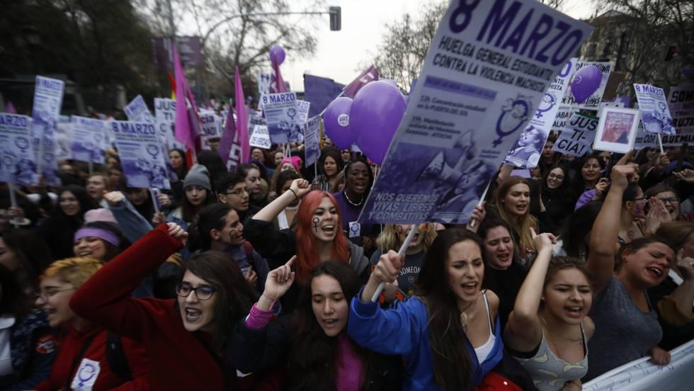 Manifestação do 8 de março deste ano em Madri.