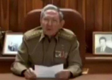 O presidente cubano dirigiu-se à nação em uma mensagem televisionada