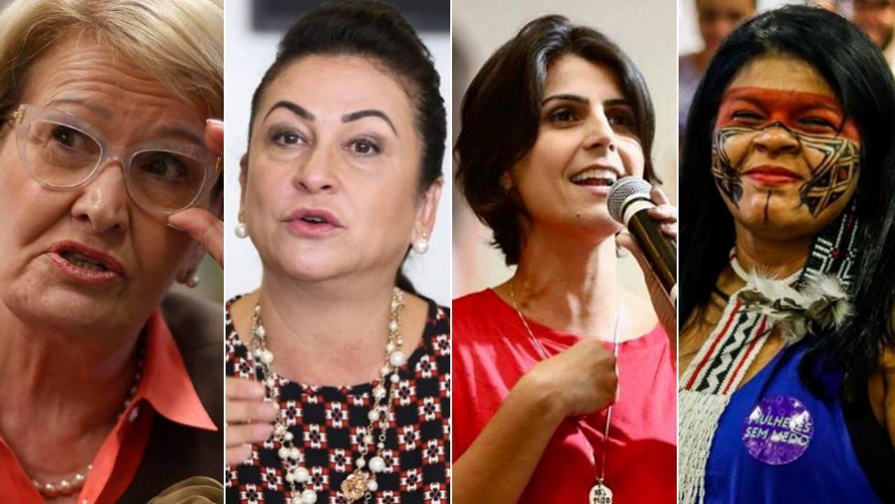 As candidatas à vice-presidência nas Eleições 2018 Ana Amélia (PP), Kátia Abreu (PDT), Manuela D'Ávila (PCdoB) e Sônia Guajajara (PSOL)