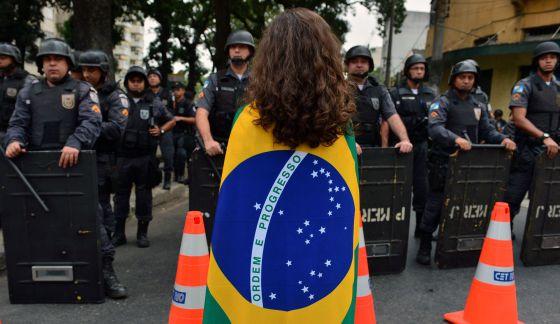Protesto no Rio no dia 30 de junho.