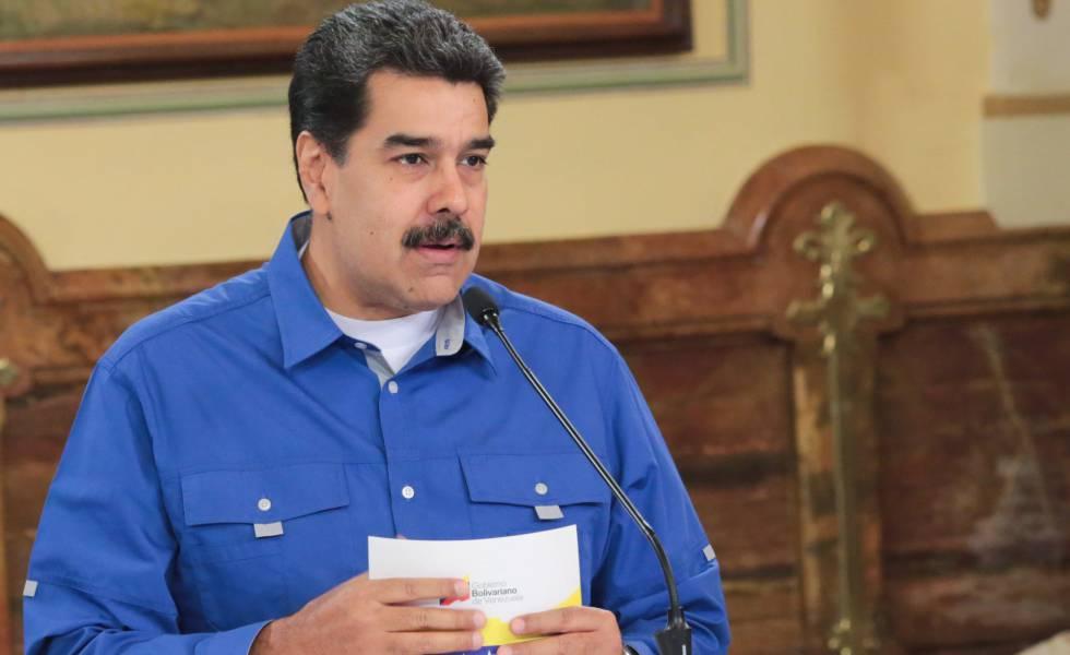 O presidente Nicolás Maduro, em Caracas