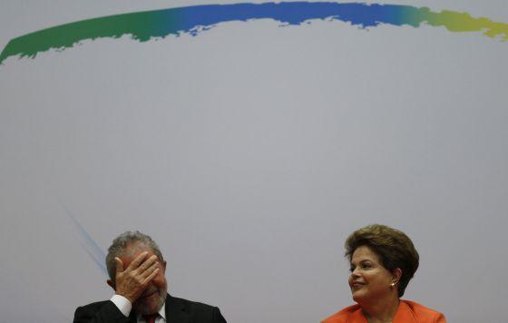 Lula e Dilma Rousseff, em foto de 12 de agosto.