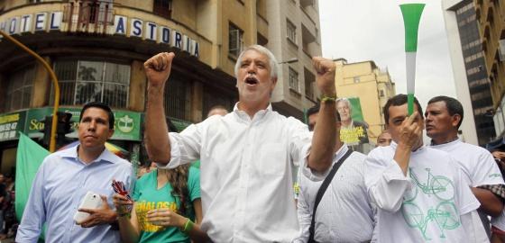 O candidato presidencial colombiano verde, Enrique Peñalosa.