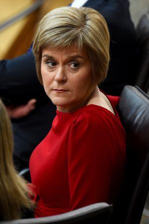 Sturgeon, no congresso do SNP.