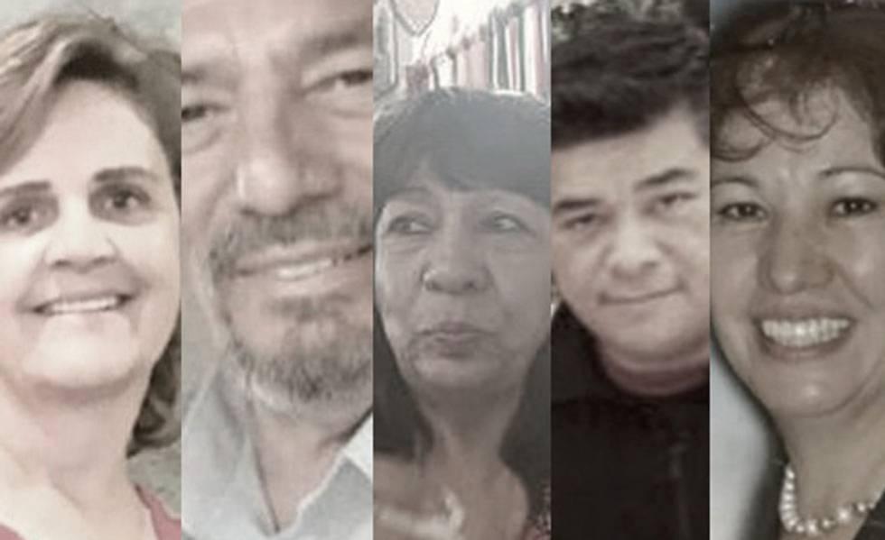 Algumas das vítimas da matança de El Paso.