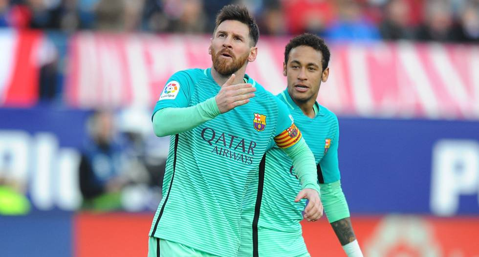 Messi marcou o gol da vitória do Barça.