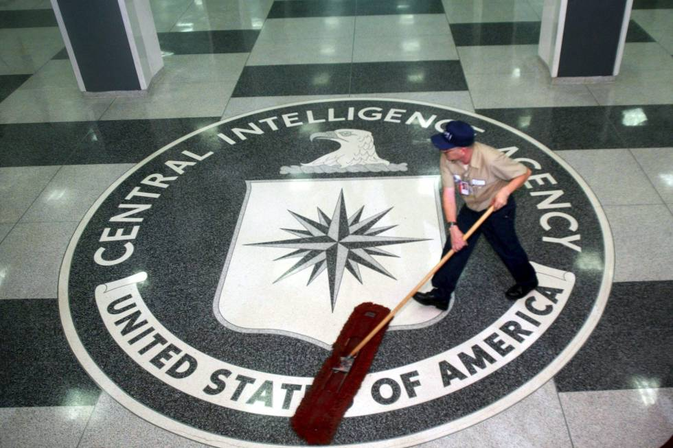 Entrada da sede da CIA em Langley, Estados Unidos.