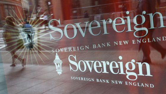 Um escritório do Sovereign em 2008, banco dos EUA comprado por Santander.
