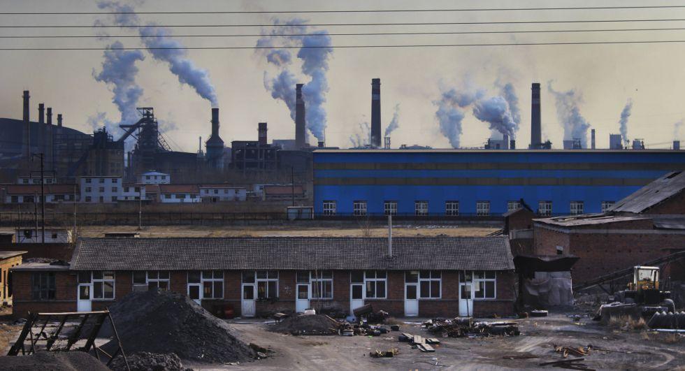 Área industrial da cidade de Muchangkou, na região de Tangshan.