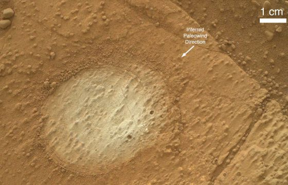 Rocha de Marte que está sendo pesquisada.