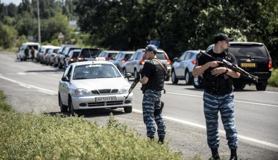 O comboio forense holandês e australiano, em Donetsk.
