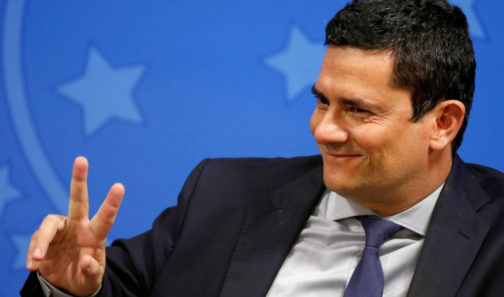 O ministro da Justiça Sergio Moro na segunda-feira no Planalto.