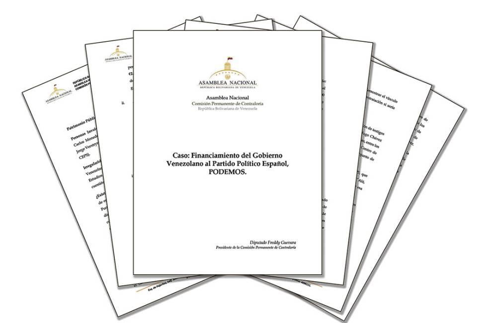 Relatório sobre suposto financiamento do Podemos pelo Governo venezuelano.