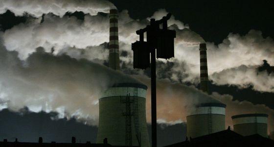 Uma usina de carvão no distrito de Datong Shanxi. Julho-agosto de 2013 foi o período mais quente na zona central e oriental da China desde 1951.