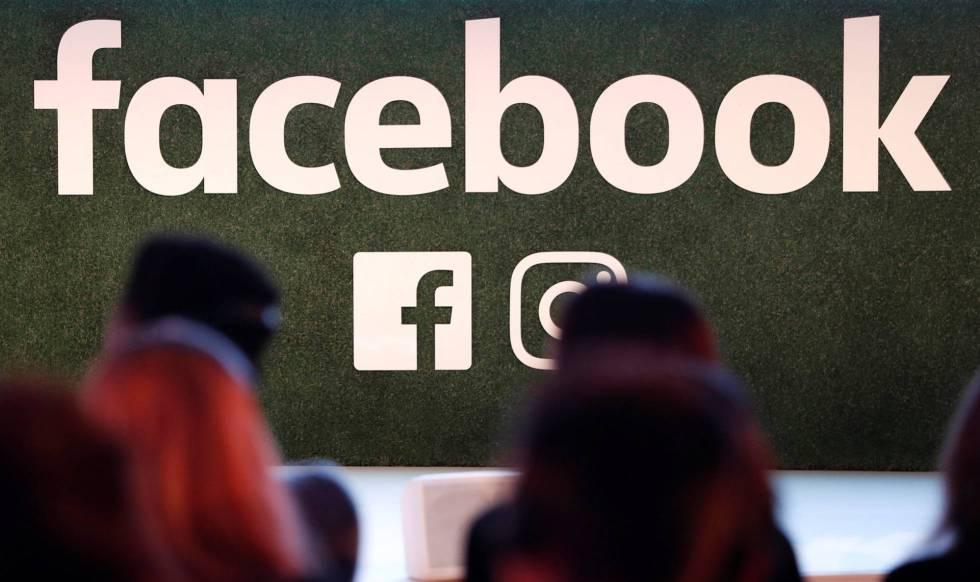 Logotipo do Facebook, em imagem captada em Bruxelas.