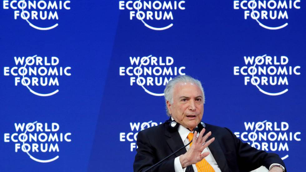 Michel Temer em Davos